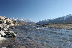 坎特伯雷新的rakaia河z 免版税图库摄影