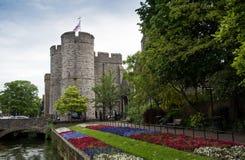 坎特伯雷,肯特英国都市风景  免版税库存照片