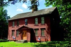 坎特伯雷, CT :18世纪殖民地木家 库存图片
