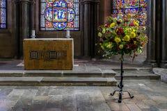 坎特伯雷, KENT/UK - 11月12日:圣徒和3月教堂  免版税图库摄影