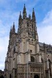坎特伯雷, KENT/UK - 11月12日:坎特伯雷大教堂看法  图库摄影