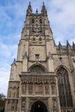 坎特伯雷, KENT/UK - 11月12日:坎特伯雷大教堂看法  免版税库存图片
