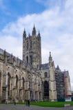 坎特伯雷, KENT/UK - 11月12日:坎特伯雷大教堂看法  库存照片