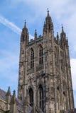 坎特伯雷, KENT/UK - 11月12日:坎特伯雷大教堂看法  免版税库存照片