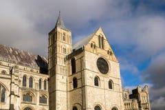 坎特伯雷, KENT/UK - 11月12日:坎特伯雷大教堂看法  免版税图库摄影