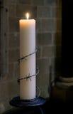 坎特伯雷, KENT/UK - 11月12日:大赦国际蜡烛 库存照片