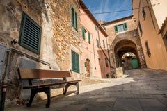 坎皮利亚马里蒂马,利佛诺省,托斯卡纳,意大利 免版税库存照片