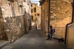 坎皮利亚马里蒂马,利佛诺省,托斯卡纳,意大利 免版税图库摄影