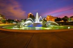坎萨斯城喷泉 免版税库存照片