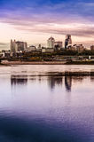 坎萨斯城密苏里都市风景 免版税图库摄影