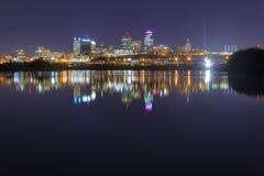 坎萨斯城,密苏里都市风景  免版税图库摄影