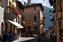 坎诺比奥Lago Maggiore意大利欧洲 免版税库存图片