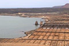 坎那利岛的兰萨罗特岛 库存照片
