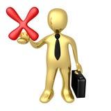 坏企业选择 库存例证