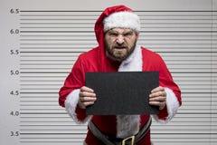 坏克劳斯・圣诞老人 免版税图库摄影