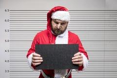 坏克劳斯・圣诞老人 免版税库存照片