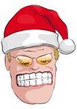 坏克劳斯・圣诞老人 库存图片
