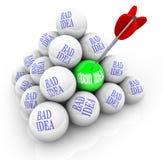 坏创造性好想法想法成功与 库存例证