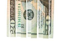 坏危机美元金融投资 免版税库存照片