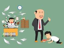 坏和好雇员实践 到达天空的企业概念金黄回归键所有权 库存例证
