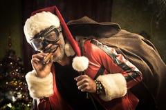 坏圣诞老人来临 免版税库存照片