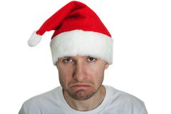 坏圣诞老人 免版税图库摄影