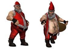 坏圣诞老人 库存照片