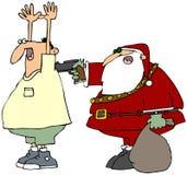 坏圣诞老人 免版税库存照片