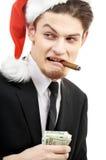 坏圣诞老人 库存图片