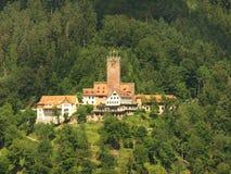 坏城堡liebenzell 免版税库存照片