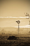 坏天旱干燥农厂时间 免版税库存照片