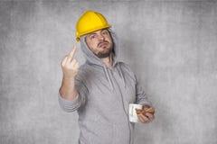 坏工作者吃了午餐 免版税库存图片