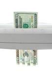 坏弱危机美元的金融投资 免版税库存图片