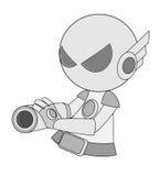 坏机器人 免版税库存图片