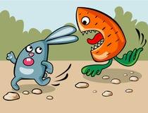 坏梦想兔子 免版税库存图片