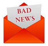 坏消息 免版税库存图片