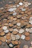 坏生锈的金钱,通货膨胀概念 免版税库存照片