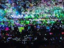 坏电视信号,电视干扰,颜色数字噪声 抽象背景 库存照片