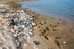 坏的海滩 免版税库存图片
