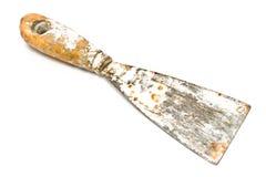 坏的生锈的刮板小铲工具 免版税库存图片