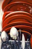 坏的盘洗碗机 免版税图库摄影