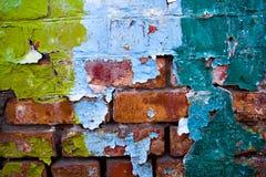 坏的老墙壁 库存照片