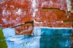 坏的老墙壁 免版税图库摄影