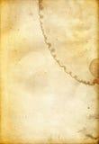 坏的老纸概略的纹理 免版税库存图片
