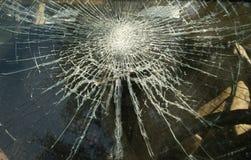 坏的被中断的窗玻璃 库存图片