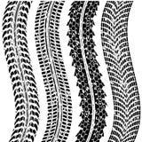 坏的轮胎跟踪 免版税库存图片
