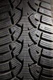 坏的防滑轮胎 免版税库存照片