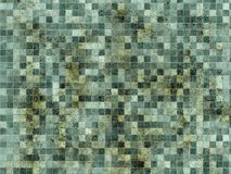 坏的grount瓦片墙壁 免版税库存照片