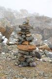 坏石头塔天气 免版税图库摄影