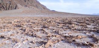 坏水位在死亡谷 图库摄影